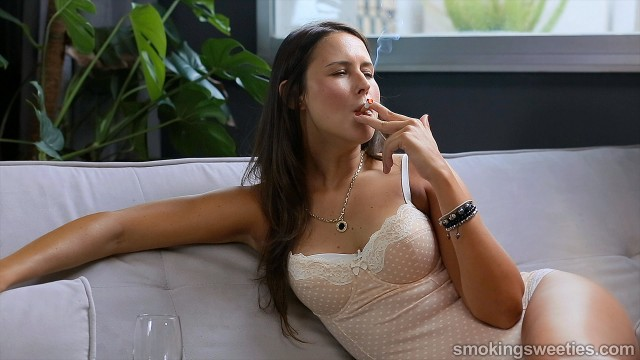Ajda: Enjoying her smoke