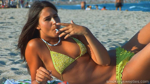 Ajda: Chain smoking on the beach