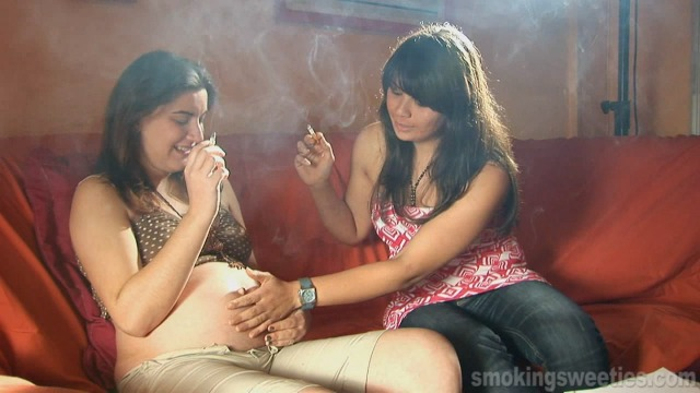 Pregnant Smoker: Smoking girlfriend's visit
