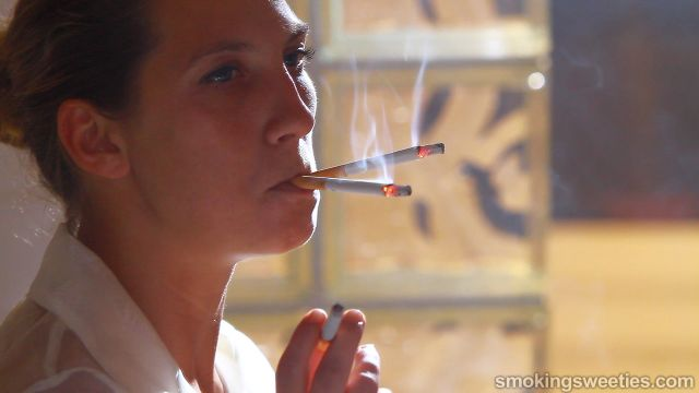 Erika: Intense Smoking Session