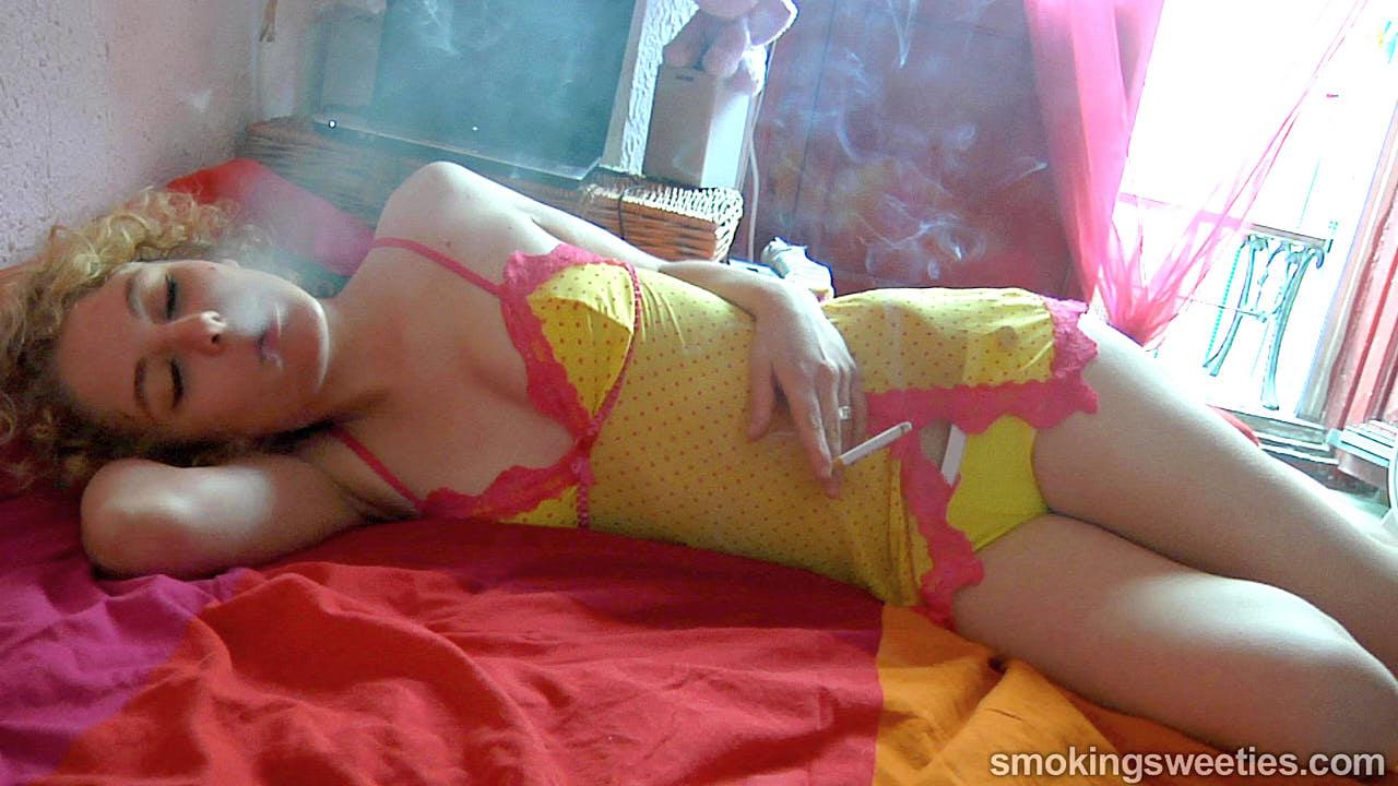 Caroline: French Smoking Teenager