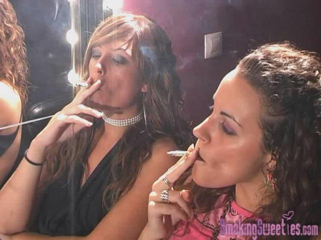 Ely and Carol: girls smoking race