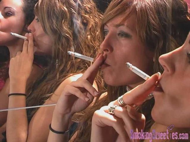 3 Sticks for 2 Smoking Girls