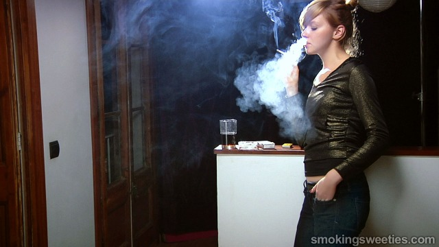 Elsa Nostril Exhales Interview Smokingsweeties