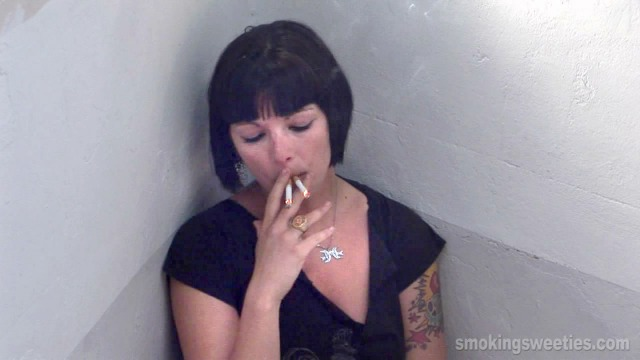 Power Smoking two at once and smoking interview