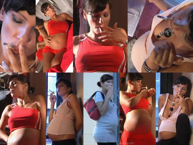 Pregnant Woman Smoking 2