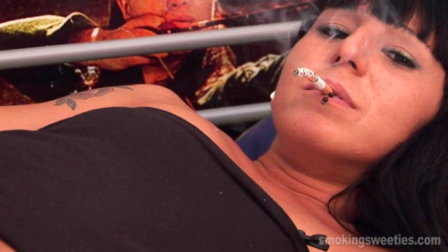 Leticia: Chain smoking and dangling