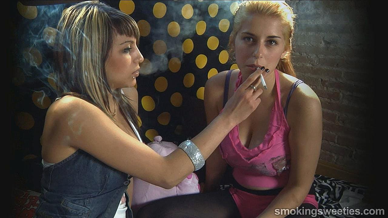 Luisa and Nadine: Smoking Teenagers