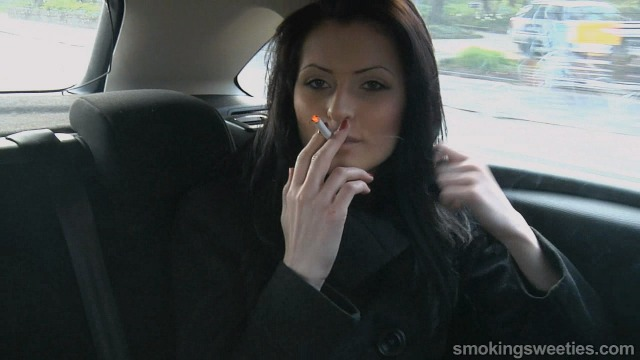 Sisters chain smoking in the car