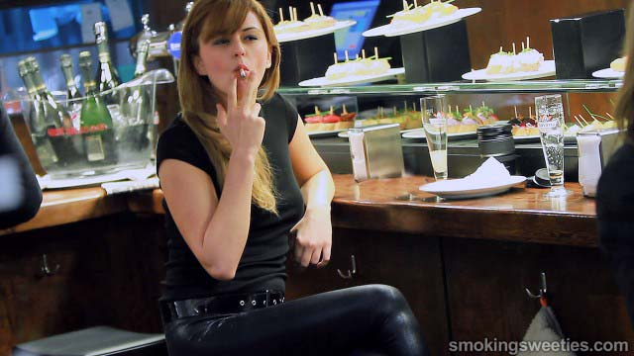 Monica: Expert Smoker taking her Multiple Drags