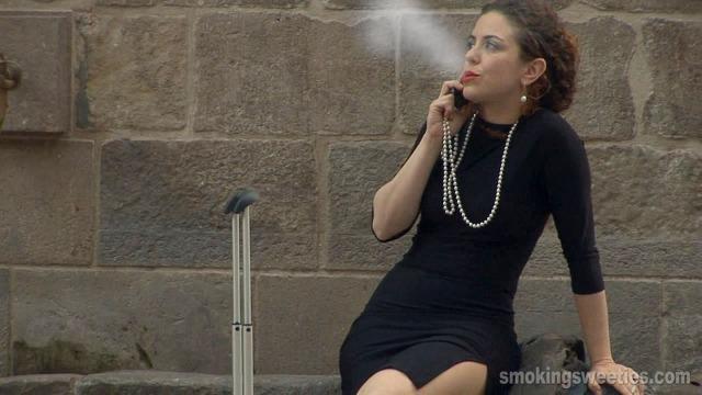 Monika: Smoking in town