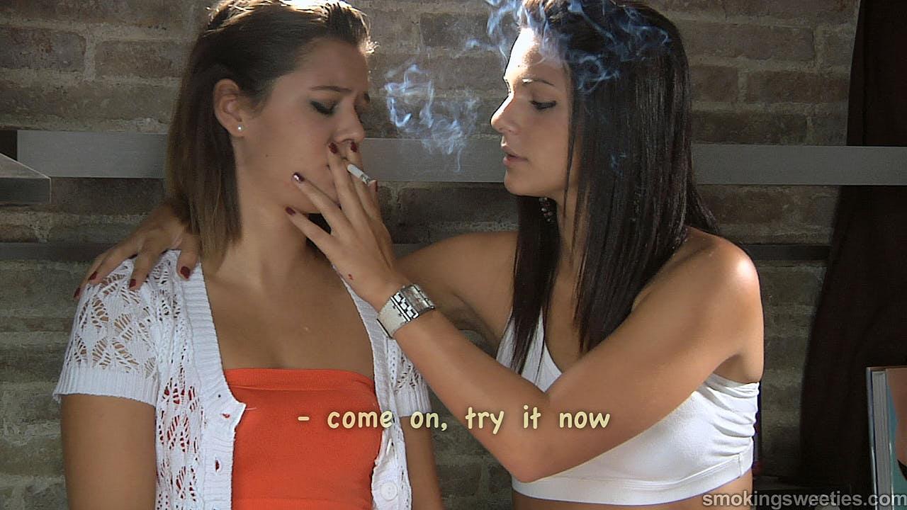 Einer Anfängerin das Rauchen beibringen