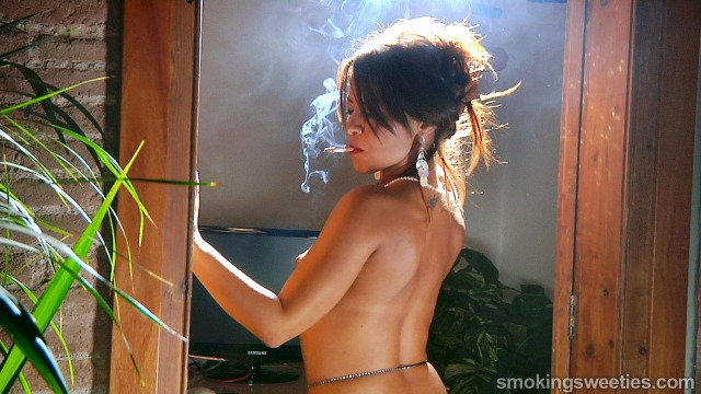 Oriana: Interview to a sexy smoking woman