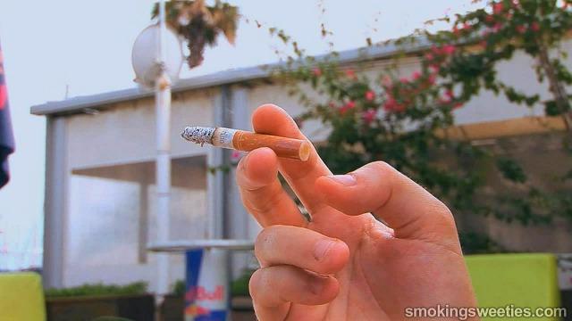 Patricia: Bikini and lycra smoking girl