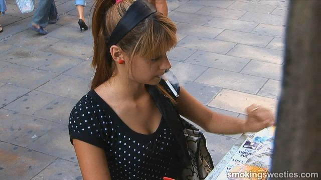 Streetlife 2 - 18 y.o. smoking girl