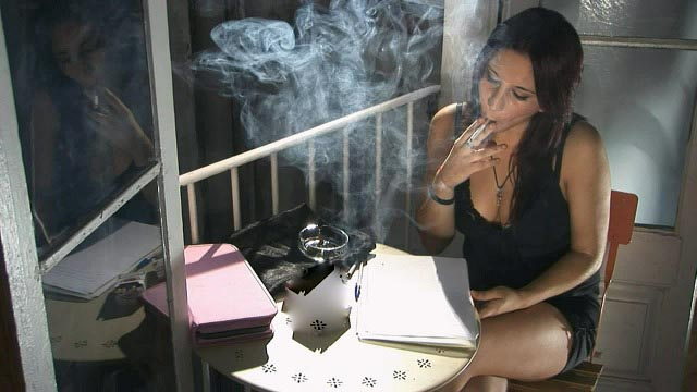 Tania: Smoking 5 cigarettes by the window