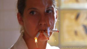 Andrea: Intense Smoking Session