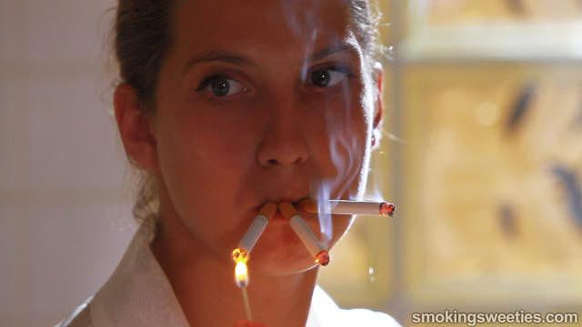 Erika: Intense Smoking Session