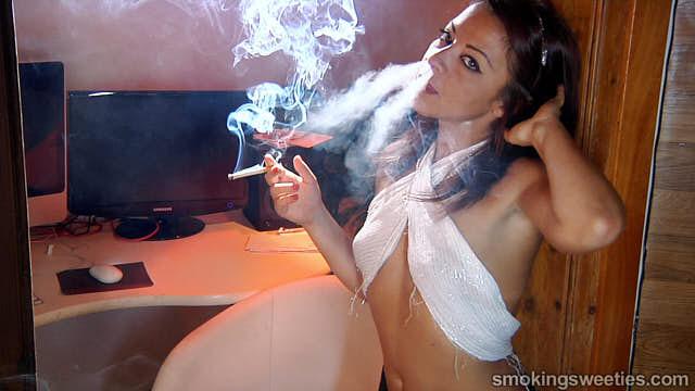 Oriana: Interview to a sexy smoking woman