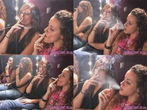Ely and Carol: girls smoking race