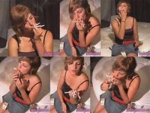 Vanesa smokes 4 cigarettes at once