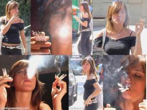 Fumando 4 cigarrillos a la vez