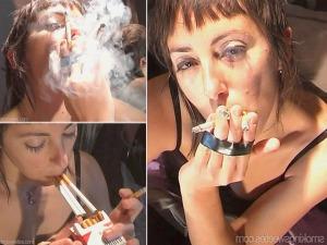 Ingeborg: 3 cigarettes at once