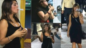Rebeca: Smoking 2 at once in public (4 scenes)