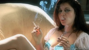 Cristina: 2 cigarettes at once smoking interview