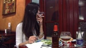 Ana: Chain Smoking during Lunch
