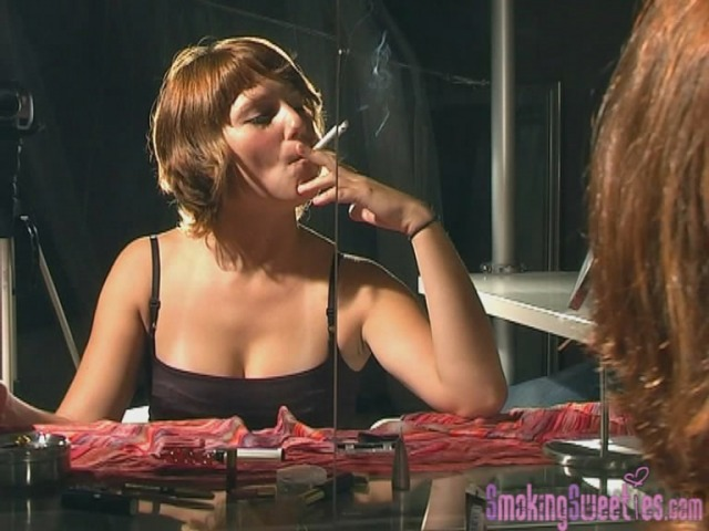 Vanesa nervous smoking during makeup