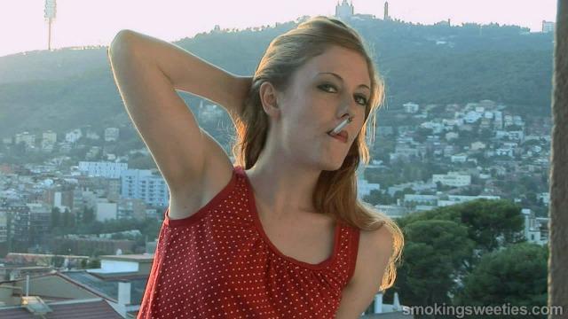 Venus O'Hara: Smoking on the balcony